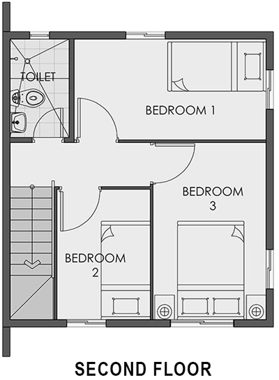 camella homes cara second floor plan