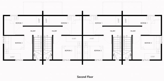 brielle townhouse second floor plan