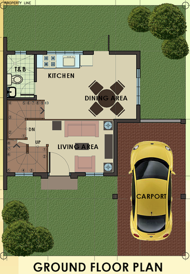camella homes carmina downhill ground floor plan