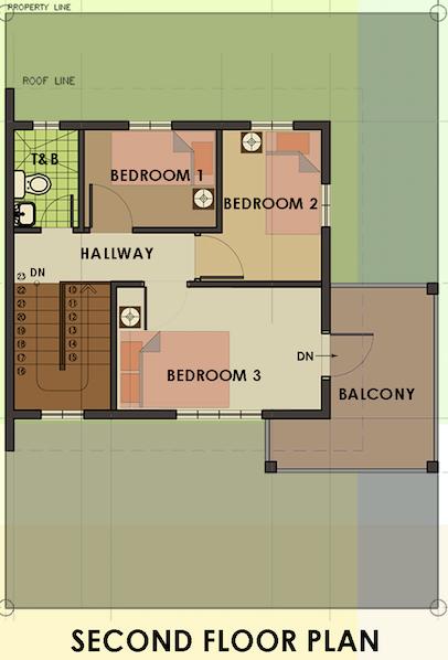 camella homes carmina uphill second floor plan