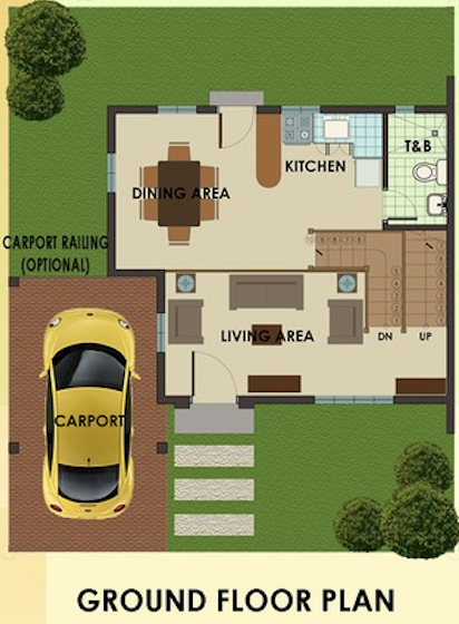 dorina downhill ground floor plan