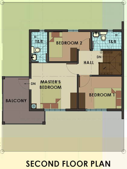 dorina uphill second floor plan