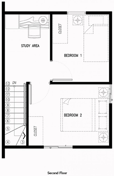 frielle second floor plan